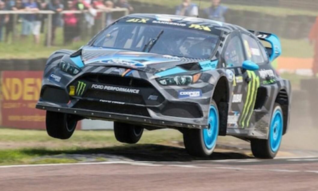 HJEMMESEIER: Andreas Bakkerud fløy fra alle konkurrentene under VM-runden i rallycross på Lånkebanen. Foto: M-Sport