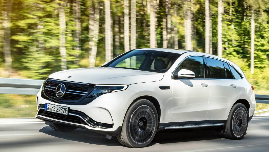 STJERNEMØTE I OSLO: Fra mandag 6. mai vil det dukke opp mange Mercedes EQC i Oslo og omegn. Mercedes har lagt den første internasjonale prøvekjøringen til Norge. Foto: Daimler