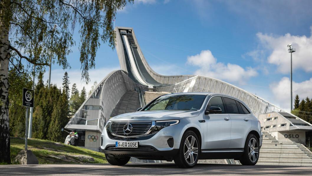 NY START: EQC markerer starten på en ny epoke for Mercedes-Benz og Daimler, som investerer 100 milliarder kroner i sin elbilsatsing de neste årene. Foto: Daimler