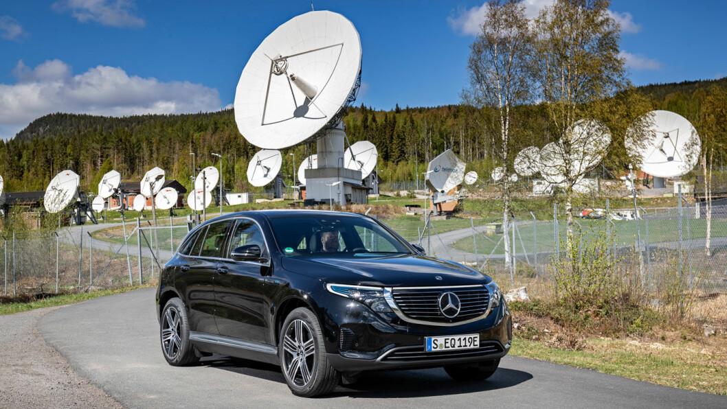 SPENNENDE: Mercedes EQC er den fjerde elektriske SUV-en med firehjulsdrift. Nå har primært Audi e-tron og Jaguar I-Pace fått konkurranse, men også Tesla X. Foto: Daimler