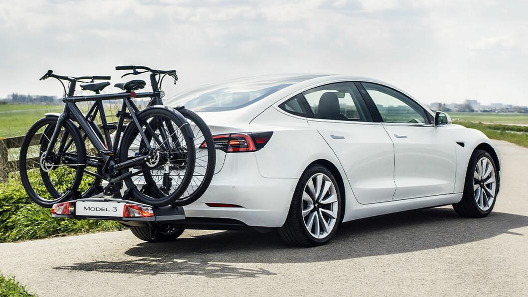 IKKE CAMPING: Model 3 får hengerfeste som tilvalgsløsning – med en vektsbegrensing på 910 kg.