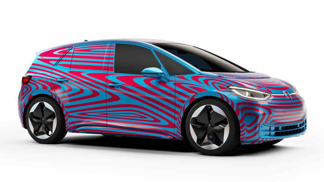 FETTEREN TIL NEMO: Volkswagen trekker akvariefolien av ID.3 på tirsdag. Hva kan vi vente oss?