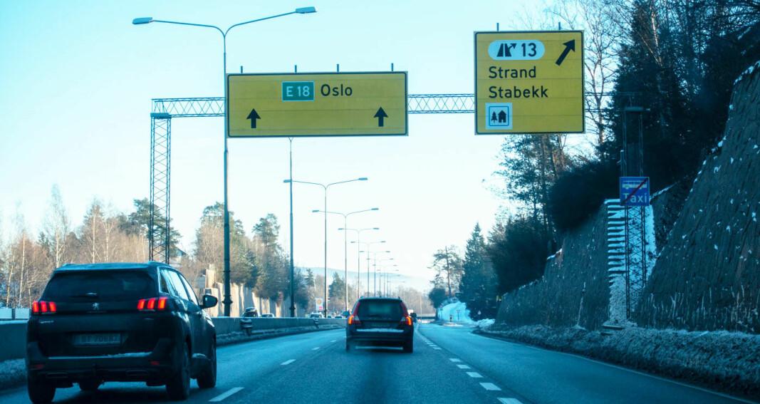 Lover ny E18 i Bærum i 2027