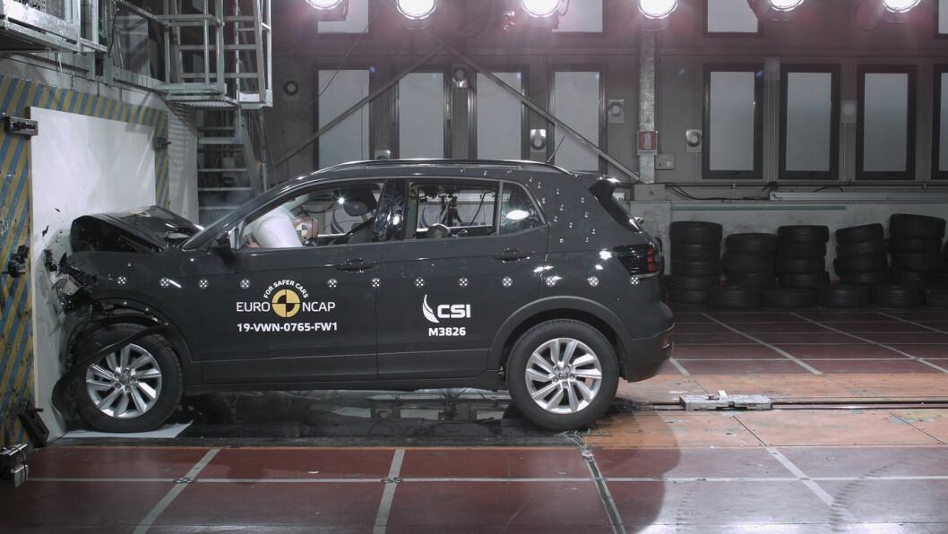 IMPONERTE: Volkswagens lille SUV, T-Cross, gjorde det strålende i krasjtesten.