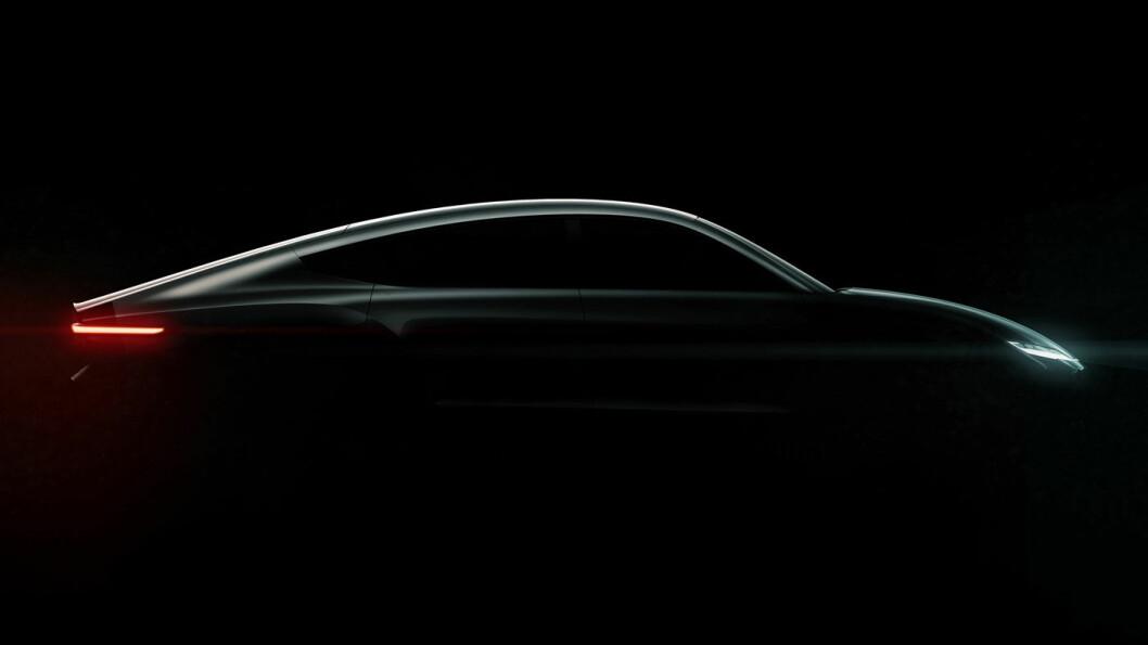 SOLCELLEDREVET: Taklinjen til den solcelledrevne «Lightyear One» forteller oss at dette blir en svært så aerodynamisk bil av god familestørrelse.