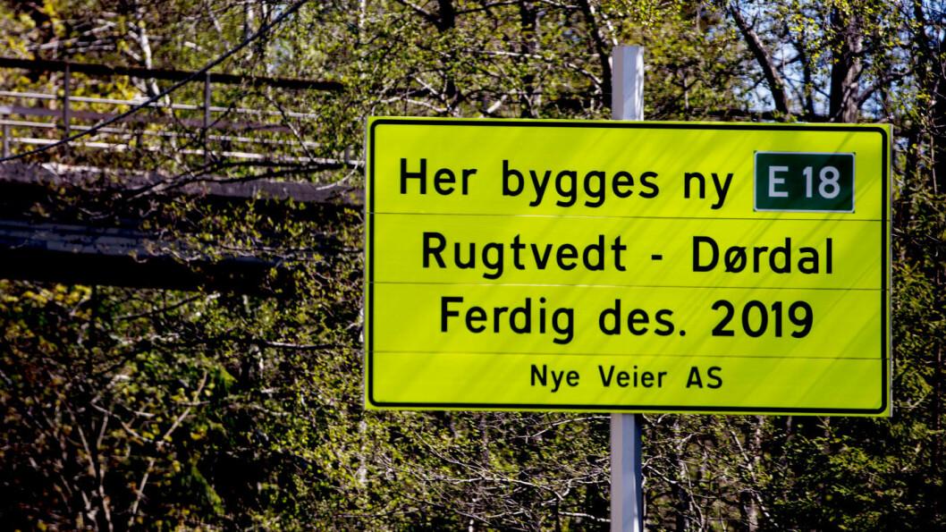 DROPPER FIREFELT: I desember er utbyggingsselskapet Nye Veier ferdig med firefelt i Telemark. Mellom Arendal og Grimstad vil de droppe firefelt. Foto: Geir Olsen