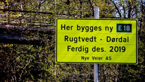 Vil droppe firefeltsvei på Sørlandet