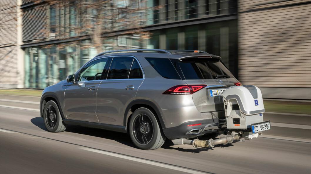 TESTER: Slik ser bilene ut som Mercedes har brukt i utslippstester de siste årene.