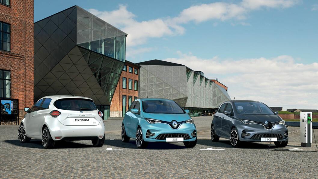 BONJOUR: Renault kommer med en kraftig fornyet Zoe, men de ytre forskjellene er minimale. Foto: Renault