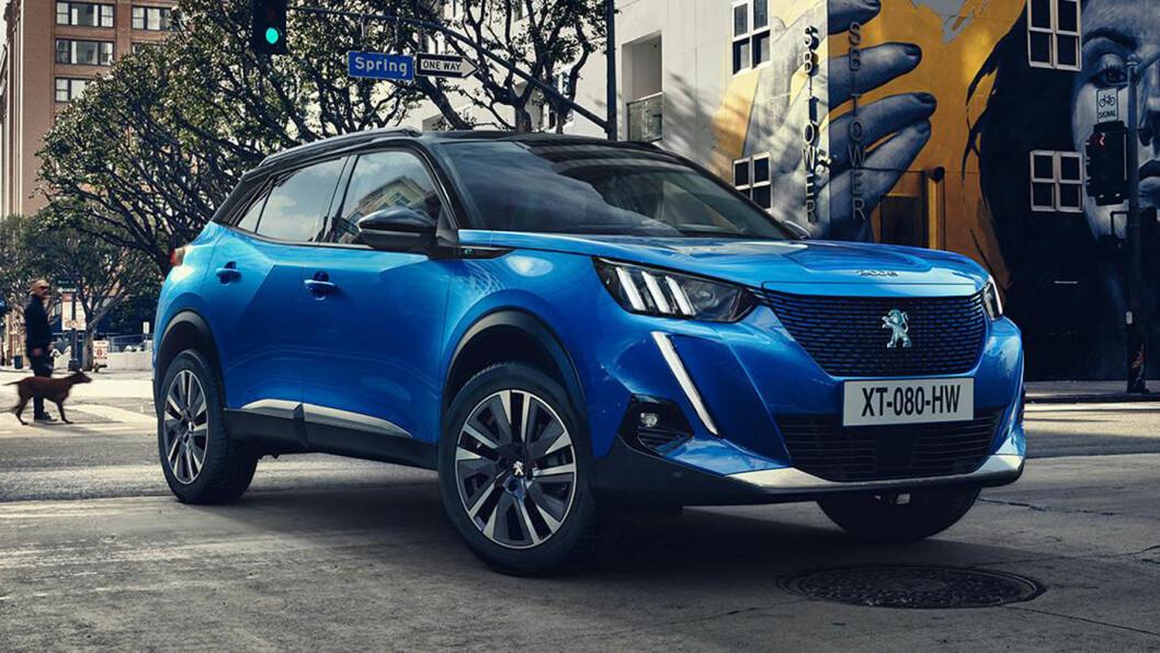 SPENSTIG: Peugeot følger opp sin spennende designretning med modellen 2008. Den kommer til Norge i en rekke ulike versjoner, men mest spennende blir den definitivt som helelektrisk. Foto: Peugeot