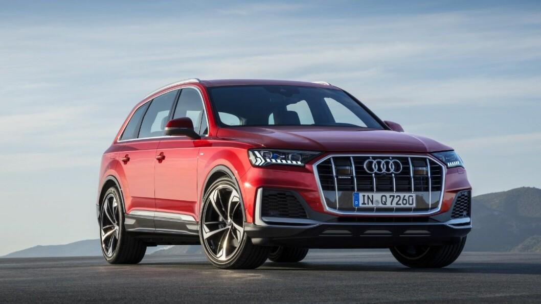 OPPFRISKET: Audis store familie-SUV Q7 får en godt synlig facelift. Viktigere er det at den igjen kommer som ladehybrid.