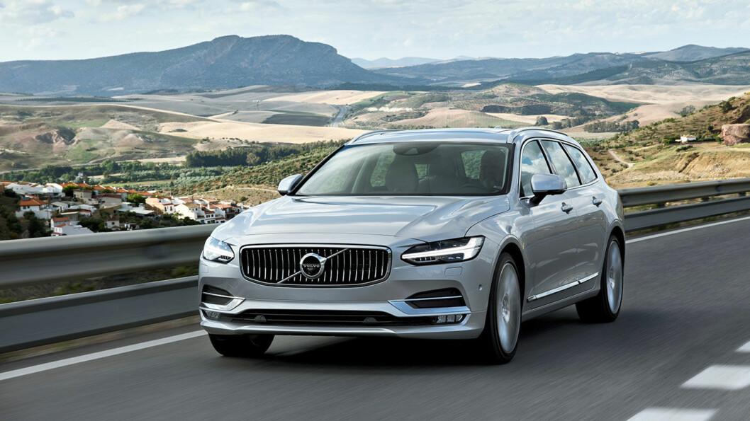 SVANESANG? Dagene kan være talte for Volvos majestetiske V90-modell, her i 2017-utgave. Foto: Volvo Car