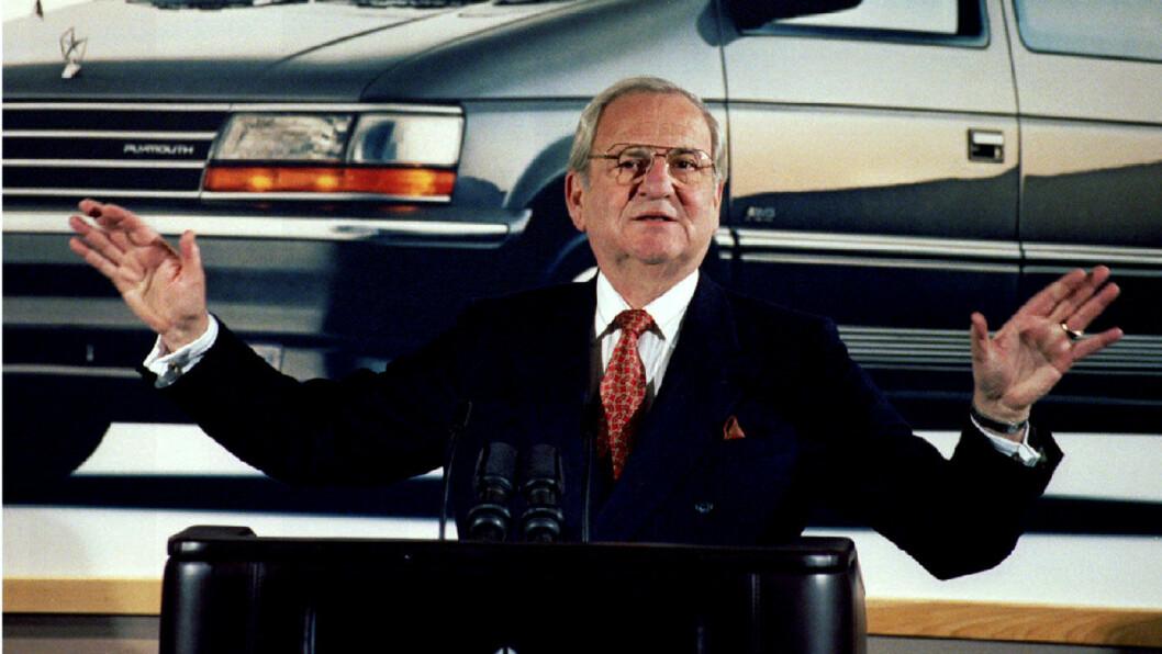 DØD: Lee Iacocca ledet Ford da selskapet laget sin Mustang og var senere toppsjef i Chrysler. Foto: John Hillery, Reuters