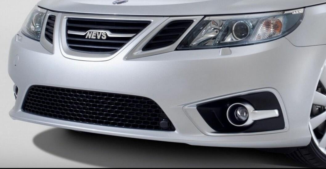 SAAB BLIR NEVS: De nye eierne får ikke lov til å bruke Saab-navnet og bytter til Nevs. Foto: Nevs