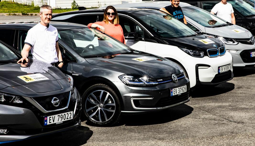 PALLEN: Av de vel 300.000 elbilene som er registrert i Norge er det flest Nissan Leaf, fulgt av VW e-Golf og BMW i3.