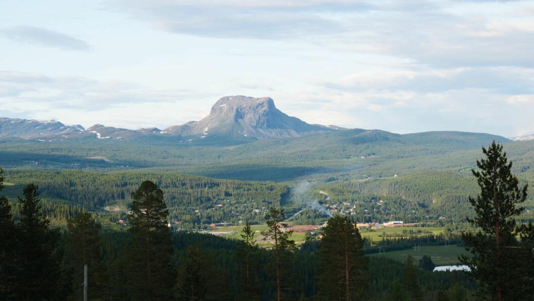 LANDEMERKE: Det karakteristiske fjellet Hatten har gitt navn til Hattfjelldal kommune. Foto: Per Roger Lauritzen