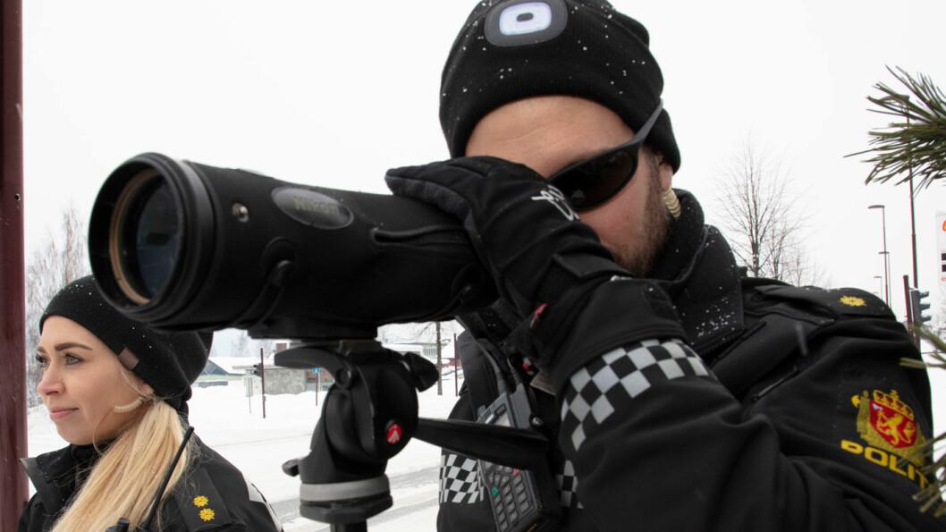 SVAK NEDGANG: Fersk statistikk fra utrykningspolitiet viser at var 9.788 personer ble tatt for å kjøre for fort på norske veier i juni, sju færre enn i juni i 2018. Foto: Geir Olsen