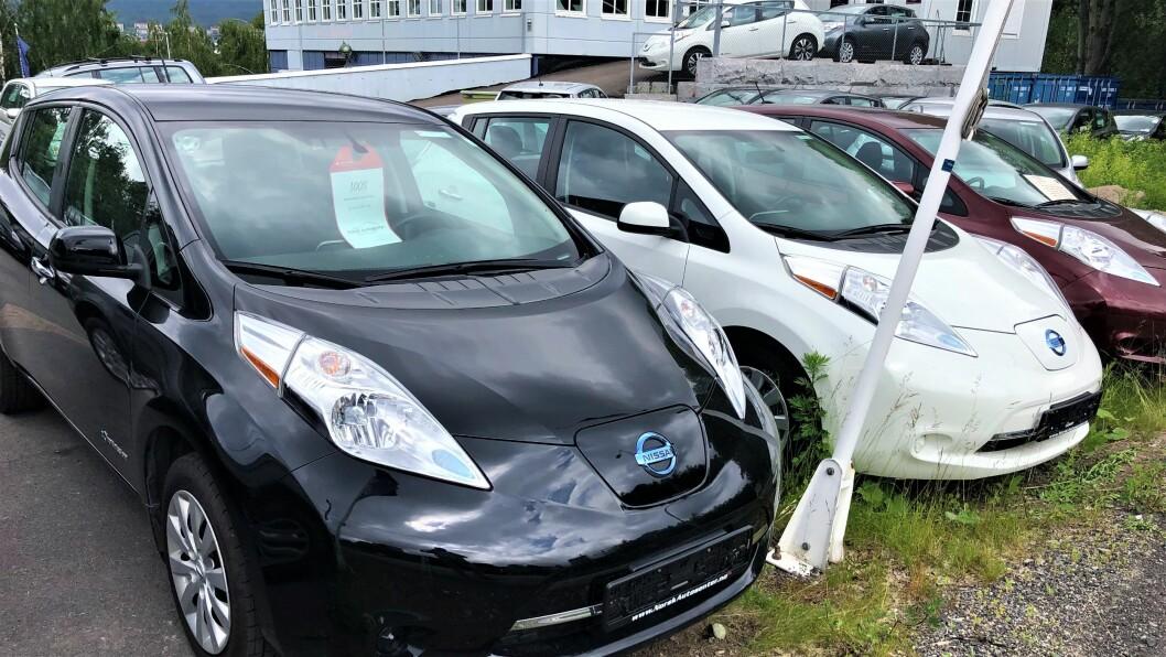 LEAF: På Norsk Autosenter dominerer Nissan Leaf utvalget. Foto: Geir Røed