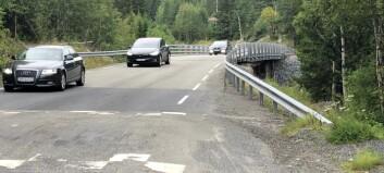 Ny motorvei ender i gammel, trafikkfarlig bru