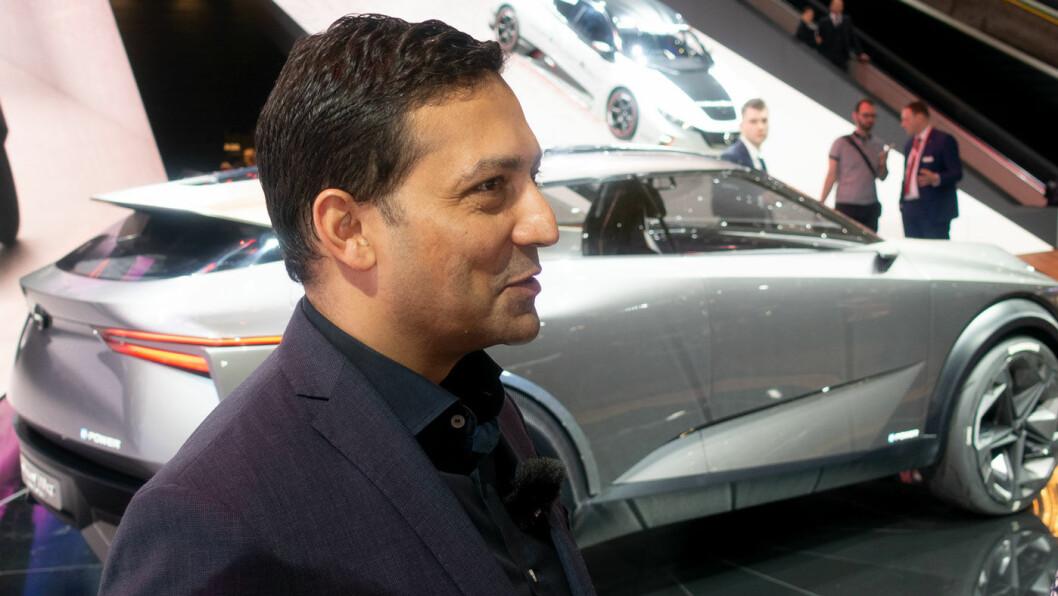 BILLIGERE: –Produksjon av elbiler kommer ned på samme kostnadsnivå som bensin, og godt under diesel, tror Nissan-toppen Ponz Pandikuthira.