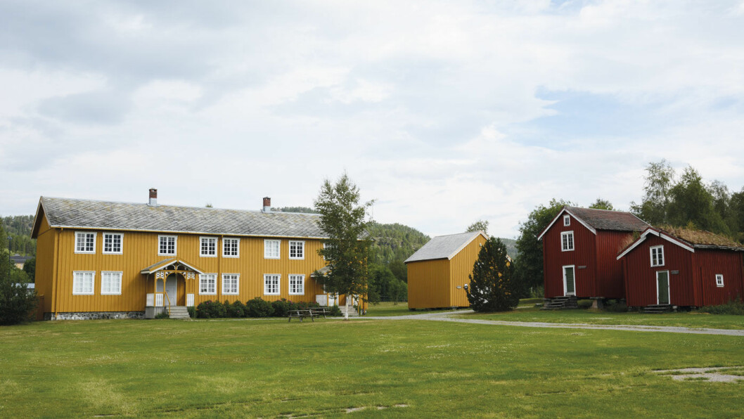 HISTORIEN I ORDEN: Namdalsmuseet i Namsos er fylkesmuseum og har 14 historiske bygninger. Foto: Per Roger Lauritzen