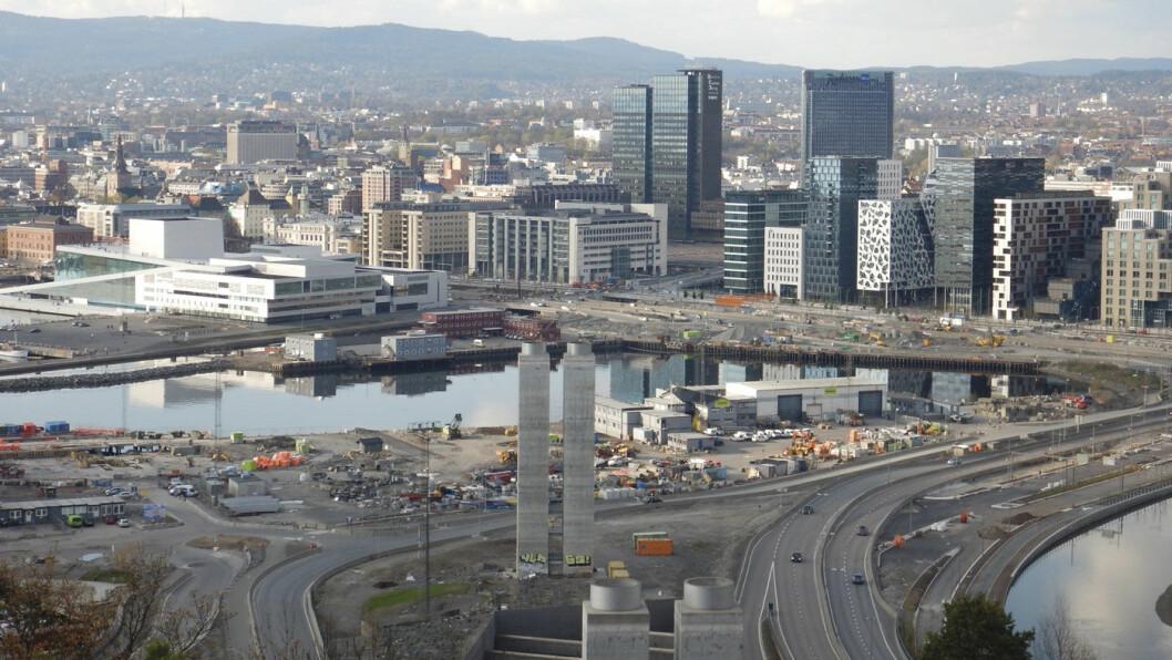 BYENS ANSIKT: Barcode og Sørenga blir Oslos nye «skyline». Foto: Per Roger Lauritzen