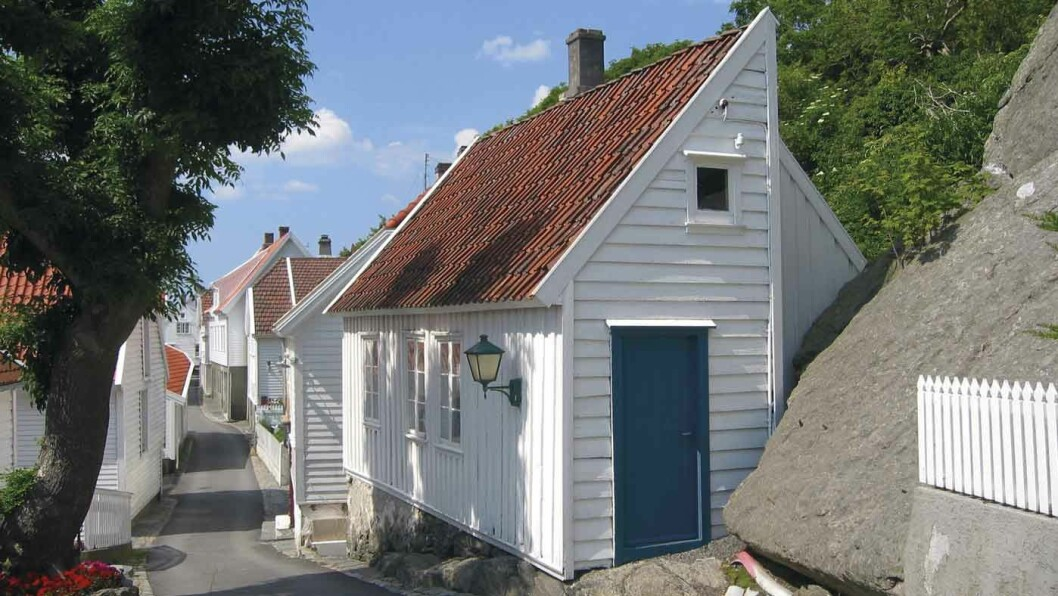 GAMLEBYEN: Den gamle bydelen i Skudeneshavn regnes som en av de best bevarte trehusbyene i Europa. Foto: Ørjan B. Iversen