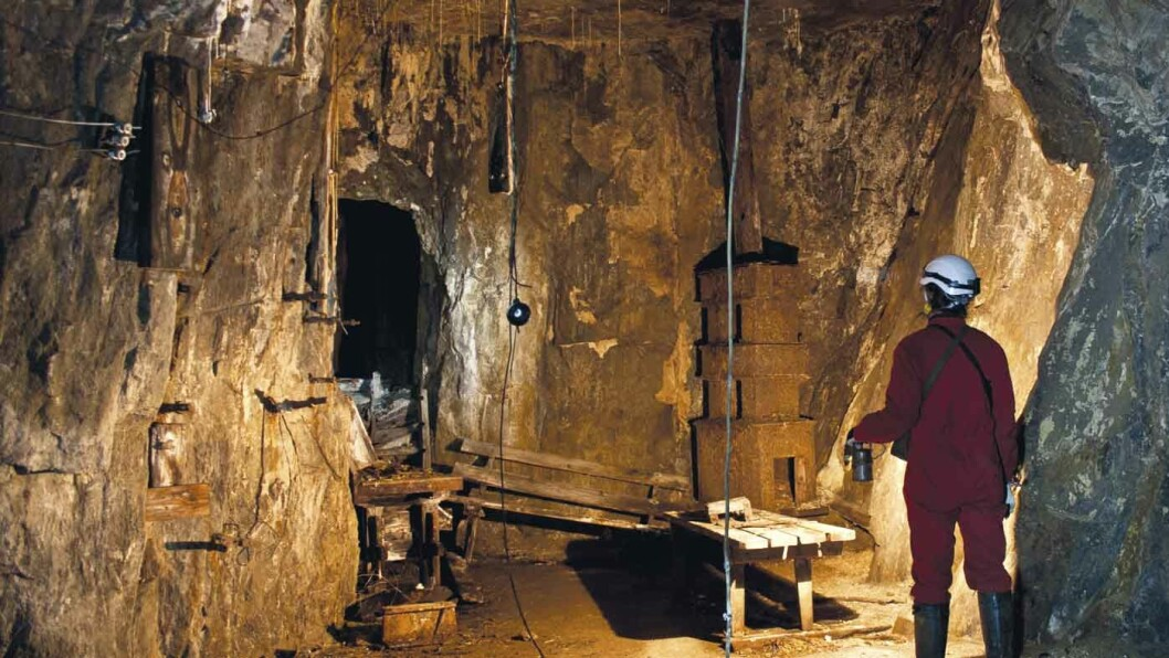 GRUVESAFARI: Fra Saggrenda kan turister kjøre med et gruvetog inn i Kongens gruve. Foto: Christian Berg/Norsk Bergverksmuseum.