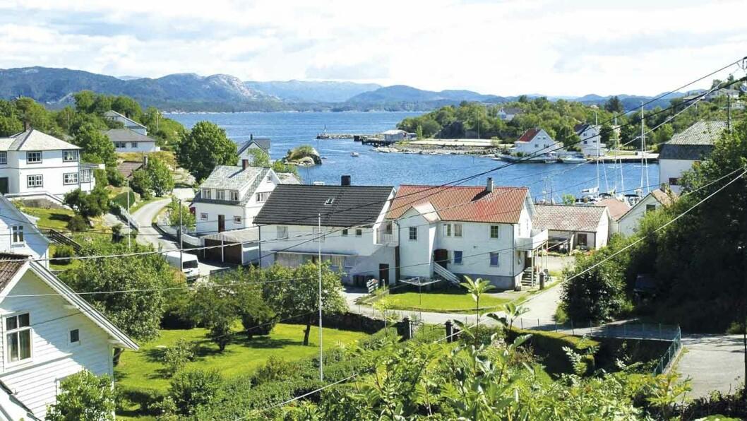 MOSTERHAMN: Hit kom Olav Tryggvason seilende i 995 og Olav den hellige i 1024. Foto: Wikimedia