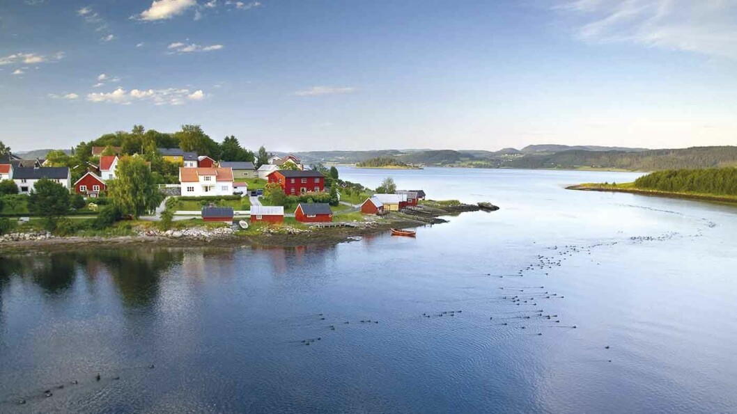 STRAUMEN: Stedet har fått navn etter den strie strømmen der to fjorder møtes.