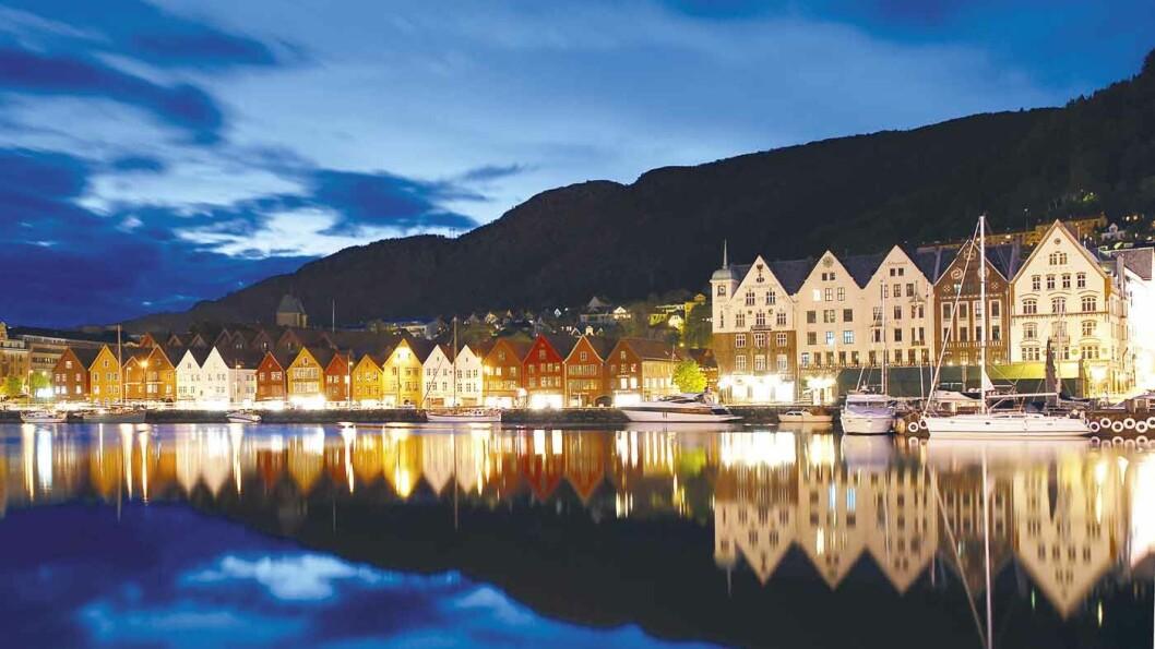 EUROPAS STØRSTE TREBY: Bergen var i sin tid Nordens største by, og både rikshovedstad og kroningsby. Foto: Wikimedia