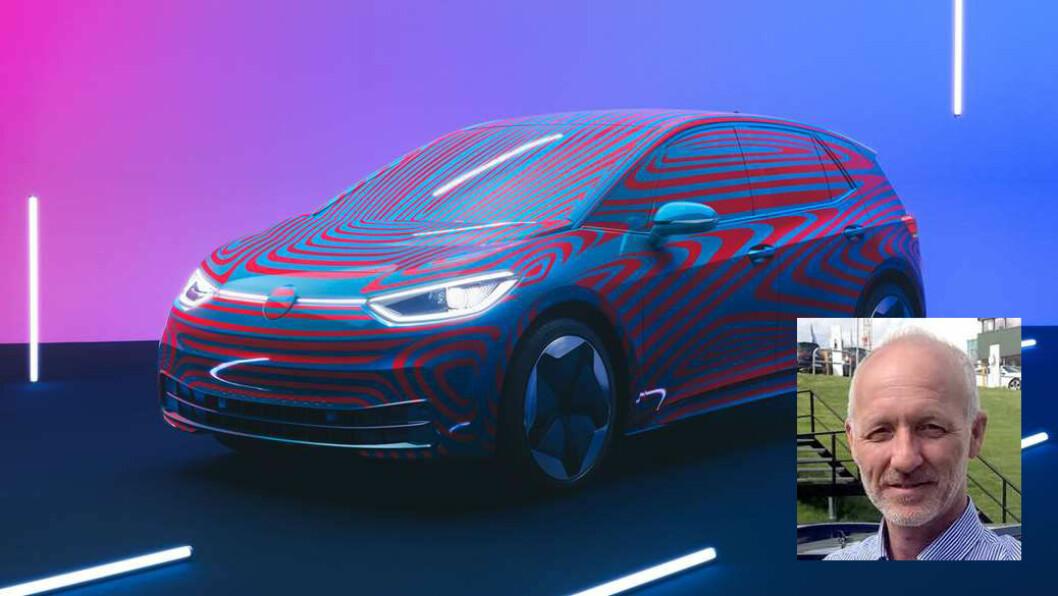 ID.-EKSPERT: Produktsjef hos Møller, Jan Tore Kopperud, har stålkontroll på alt som rører seg rundt Volkswagens første elbil i ID.-familien. Men prisen holder han hemmelig noen måneder til.