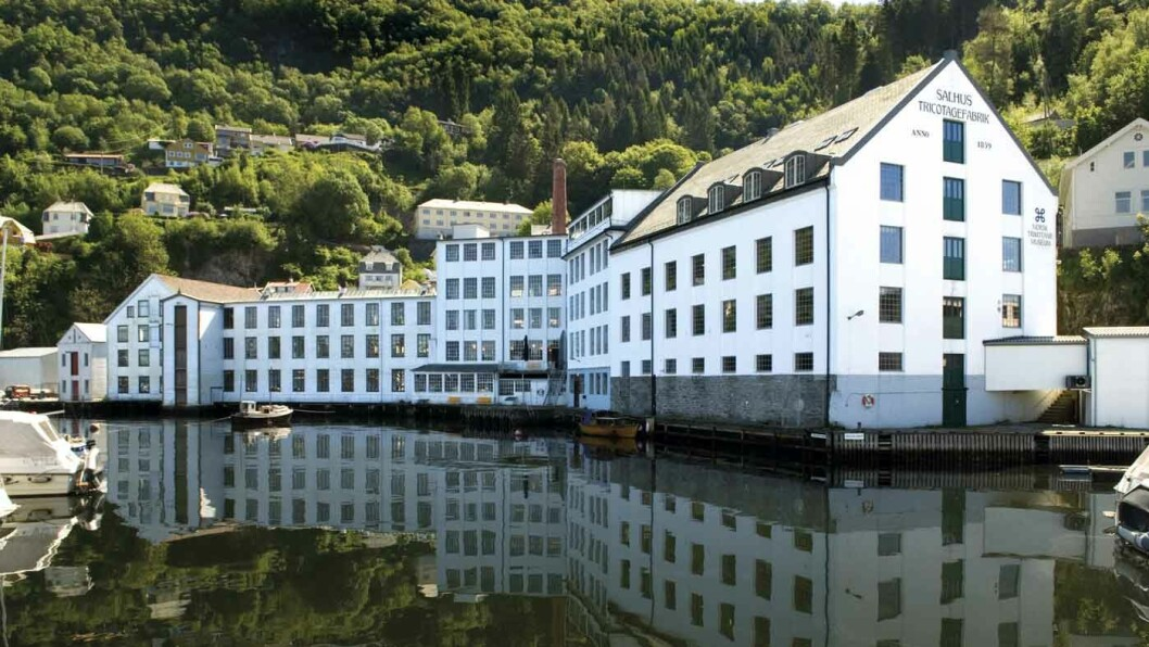 INDUSTRIHISTORIE: Norsk Trikotasjemuseum i Salhus forteller historien om norsk tekstilindustri. Foto: Helge Sunde