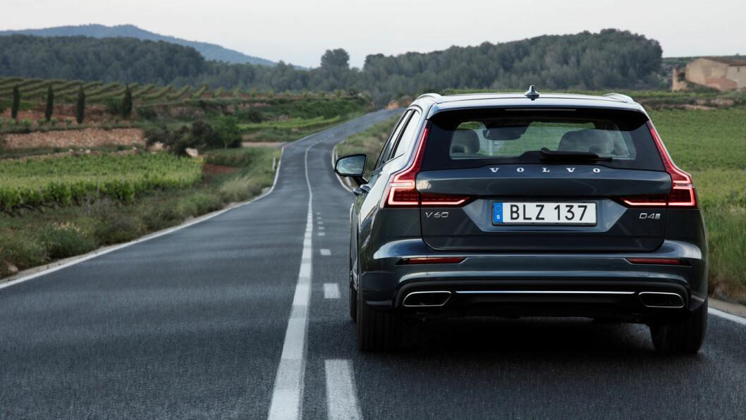 ET GODT VALG? Nye Volvo V60 – her dieselmodellen D4 – har gitt et løft i de norske dieselsalget for den svensk-kinesiske bilprodusenten. Foto: Volvo Car