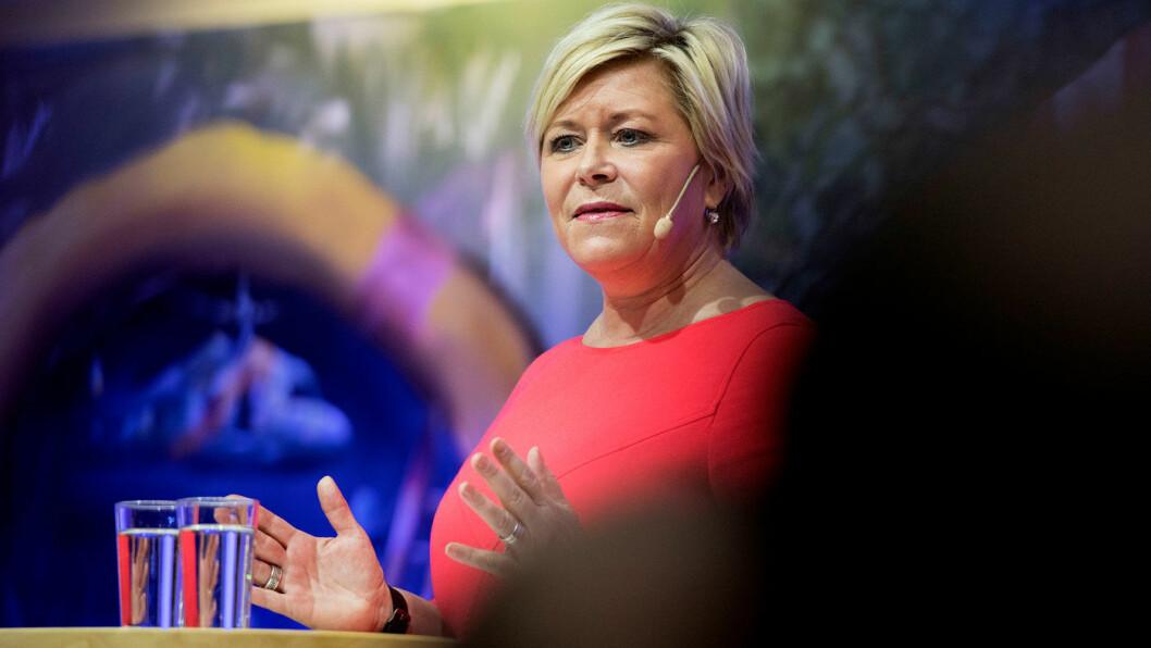 MÅ HA LØSNING: Frp-leder Siv Jensen fikk tilsynelatende store gjennomslag på bompengefeltet i arbeidet med Granavolden-plattformen, men nå er grasrota i partiet utålmodig. Foto: Ole Martin Wold