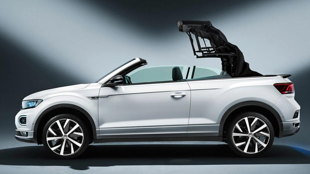 SUV-CAB: Volkswagen T-Roc cabriolet er en frisk nykommer i SUV/crossover-segmentet – men neppe veldig aktuell for norske kjøpere. Foto: VAG