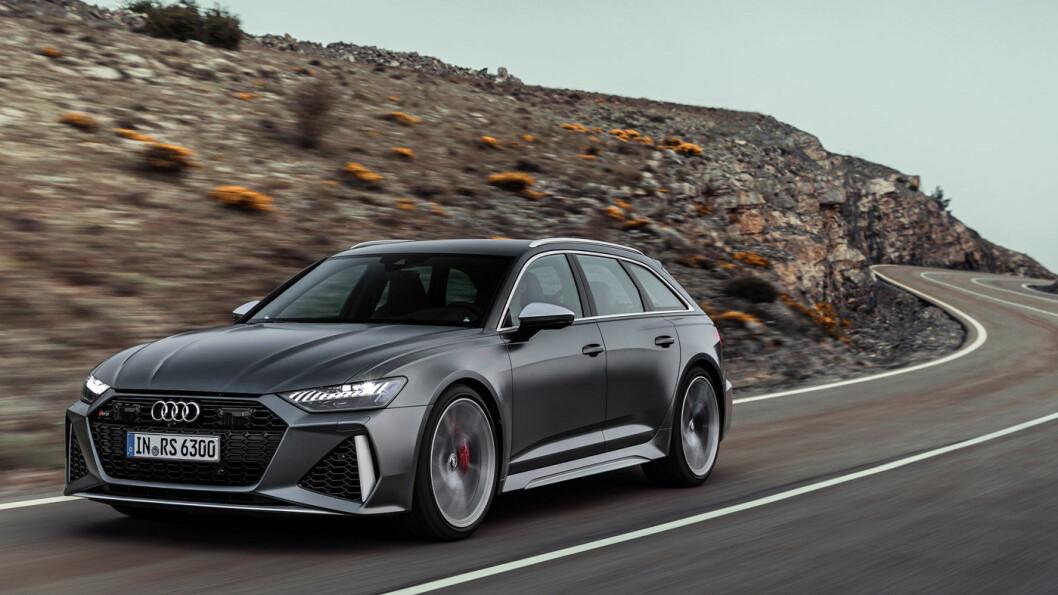 FAMILIERACER: Slik ser fjerde generasjon Audi RS 6 Avant ut. Modellen markerer at det er 25 år siden Audi lanserte RS som råere varianter av sine eksisterende modeller. Foto: Audi AG