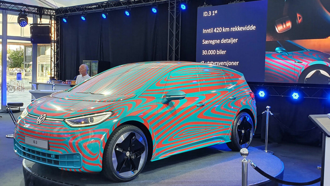PRISVINNER: VW lanserer sin nye elbil ID.3 1ST med en startpris i Norge på under 330.000 kroner. Foto: Møller Mobility Group