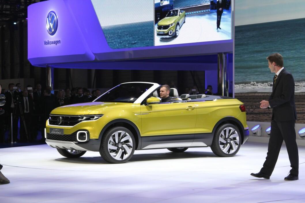 INGEN SKANDALE: Første halvår tok VW tilbake tittelen som verdens største bilprodusent fra Toyota. Nye modeller, som denne kompakte SUV-en, skal gjenvinne kjøpernes tillit etter diesel-skandalen. Foto: Rune Korsvoll