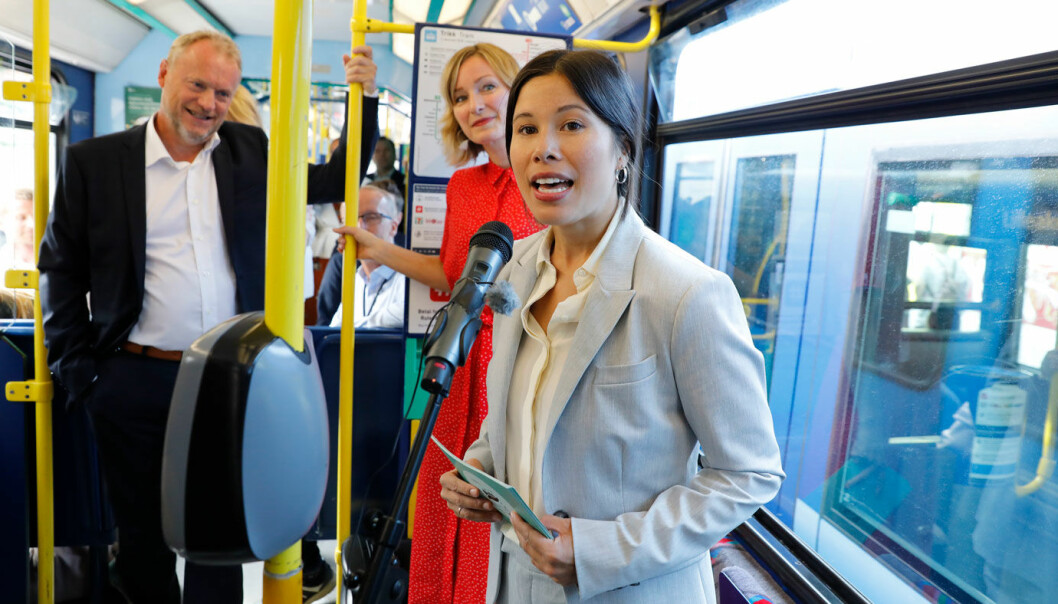 INNFØRER NULLUTSLIPPSSONE: Oslos miljø- og samferdselsbyråd Lan Marie Berg (MDG) sier at de vil ha bensin- og dieselforbud i Oslo sentrum allerede ved utgangen av neste år.