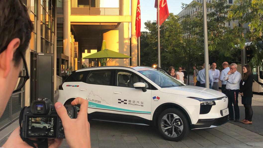 VM I TESTTUR: Etter ca 11.000 km testkjøring kom den kinesiske elbilen Aiways U5 til Oslo denne uka. Vi prøvekjørte bilen – uten å bli veldig begeistret. Foto: Peter Raaum