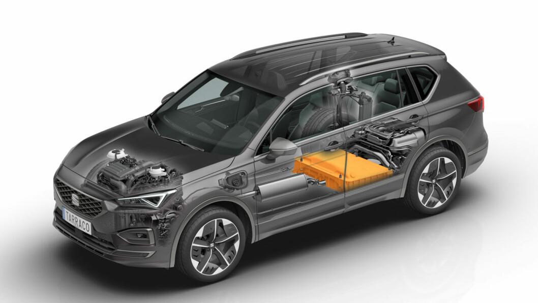 MER FUTT: SEATs største SUV kommer som ladehybrid i 2020 –og akkurat nok batterihjelp til at den smetter over 50 km-grensen på elektrisk kjøring.