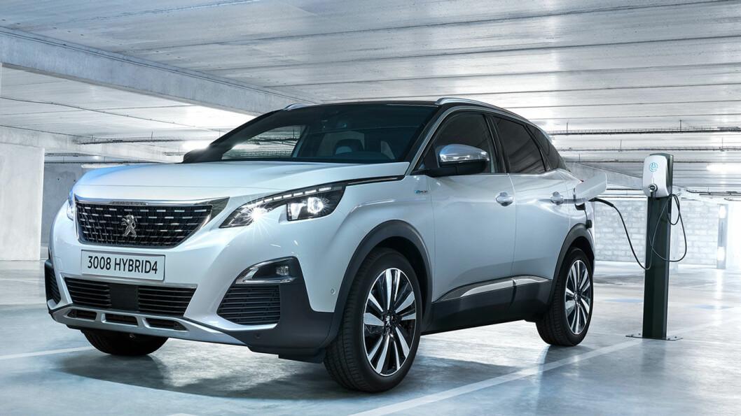 SPENNENDE: Peugeots kompakt-SUV 3008 får nå ladbar hybrid-teknologi og firehjulsdrift. Men foreløpig ingen pris.
