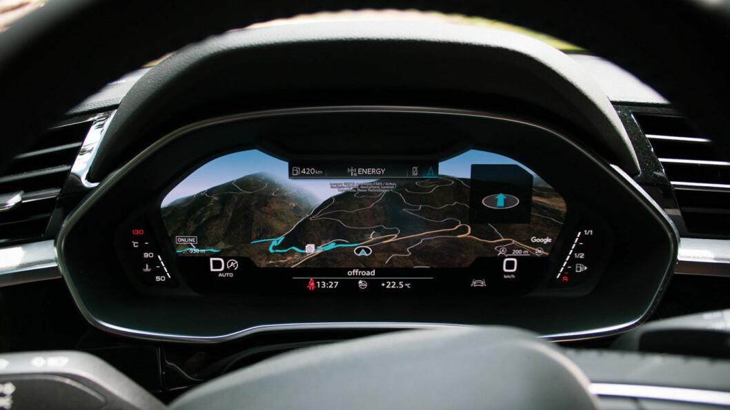 NYT UTSIKTEN: «Virtuell cockpit», et av Audis mange tilvalg.