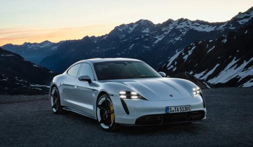Porsche Taycan knuses av Tesla på rekkevidde