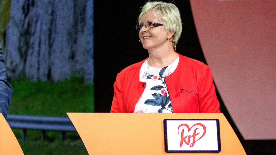 ENIGHET: Fylkesordfører Solveig Ege Tengesdal (KrF) kunne onsdag presentere enighet om ny bymiljøpakke – med halv bomavgift for elbiler. Foto: Tomm W. Christiansen