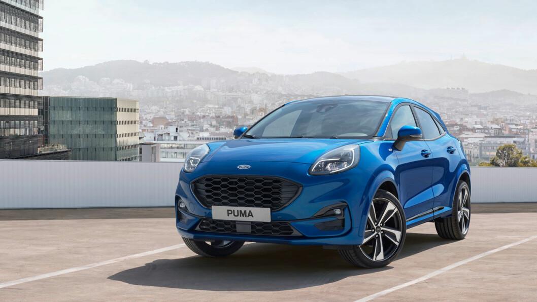 I SPRANGET: Nye Ford Puma, her med utstyrsnivå ST-Line, kommer med klasseledende motorkraft og stort bagasjerom.