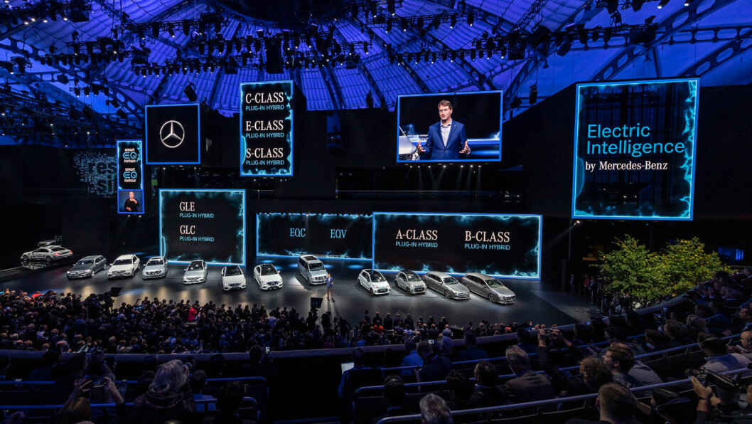 PLASS TIL ALLE: Mercedes med en hel flåter av nyheter