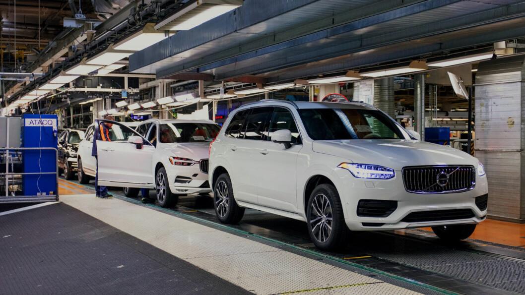 SELVKJØRENDE: Denne Volvoen er tilrettelagt for Ubers selvkjøringsteknologi, og skal gjennom de siste testene før biler med denne teknologien skal produseres i stort omfang. Foto: Volvo Car