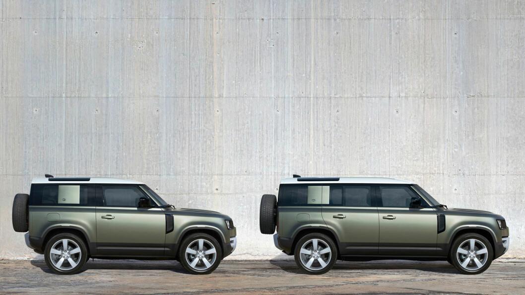 UNG OG TØFF: Nye Land Rover Defender er en moderne bil med umiskjennelige trekk fra ikoniske modeller. Den kommer i to lengder (90 og 110) og med en rekke setekonfigurasjoner.